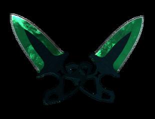 ★ Тычковые ножи | Гамма-волны Изумруд