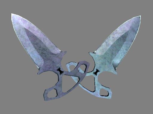 Скин ★ Тычковые ножи | Вороненая сталь (Поношенное)