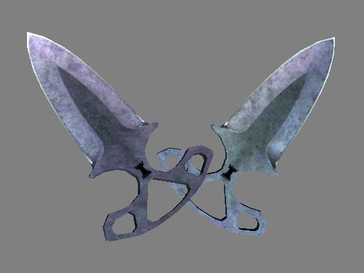 Shadow Daggers | Blue Steel Battle-Scarred