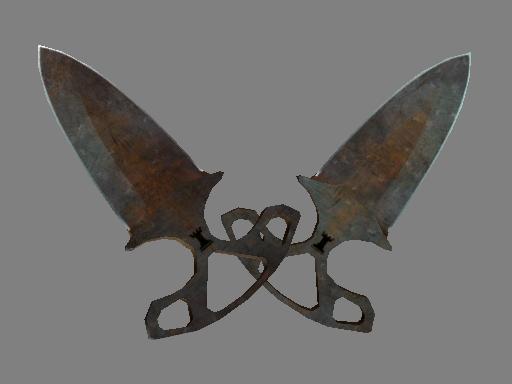 ★ StatTrak™ Shadow Daggers | Rust Coat (Battle-Scarred)