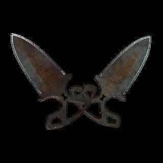 ★ Shadow Daggers | Rust Coat (Battle-Scarred)