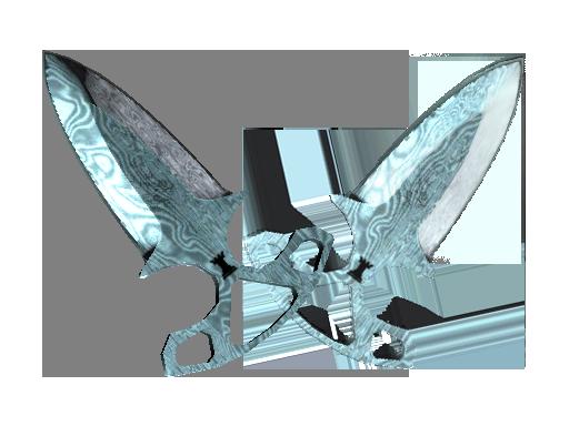 Скин ★ Тычковые ножи | Дамасская сталь (Поношенное)