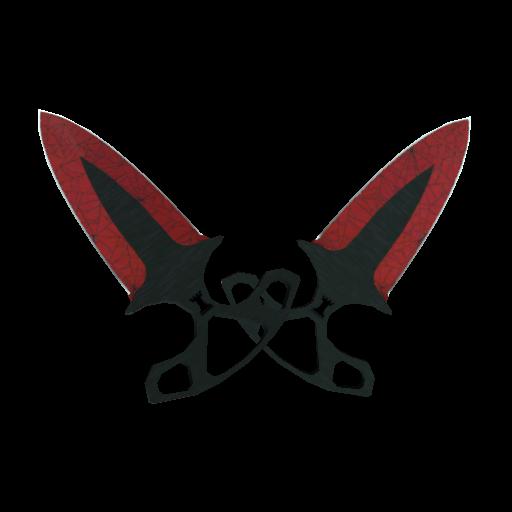 Shadow Daggers | Crimson Web - gocase.pro