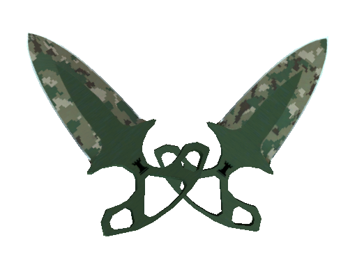 ★ StatTrak™ Shadow Daggers | Forest DDPAT (Battle-Scarred)