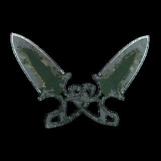 ★ StatTrak™ Shadow Daggers | Forest DDPAT (Battle-Scarred)