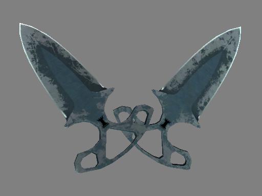 Скин ★ Тычковые ножи | Ночь (Закаленное в боях)