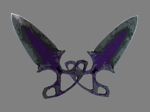 Скин ★ Тычковые ножи | Ультрафиолет (Закаленное в боях)