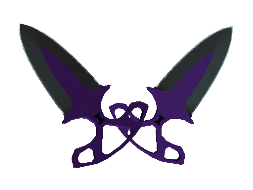 ★ StatTrak™ Shadow Daggers | Ultraviolet (Battle-Scarred)