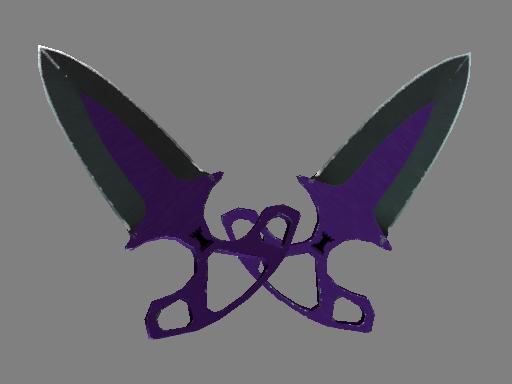 Скин ★ Тычковые ножи | Ультрафиолет (Поношенное)