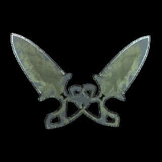 ★ StatTrak™ Shadow Daggers | Safari Mesh (Battle-Scarred)