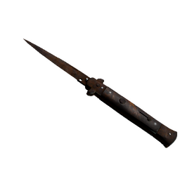 ★ Stiletto Knife | Rust Coat (Battle-Scarred)