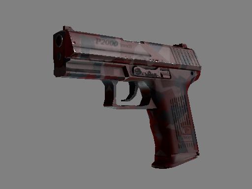 Скин P2000 | Красные фрагменты (Прямо с завода)