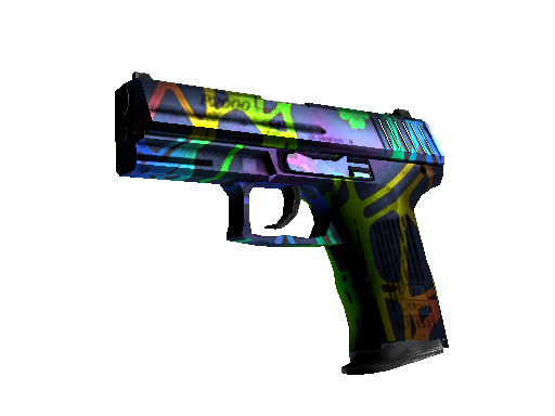 StatTrak™ P2000 | Acid Etched (Battle-Scarred)