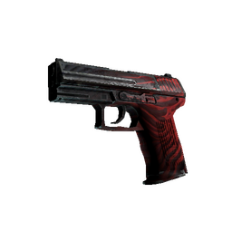 StatTrak™ P2000 | Obsidian (Battle-Scarred)