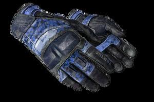Moto Gloves Polygon Battle Scarred