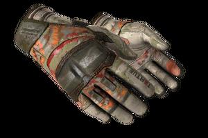 Moto Gloves Pow Battle Scarred