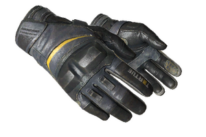 Moto Gloves Eclipse Well Worn
