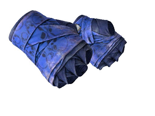 ★ Hand Wraps | Cobalt Skulls (Battle-Scarred)