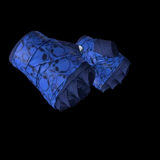 Hand Wraps | Cobalt Skulls - gocase.pro