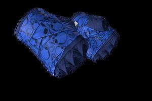 Hand Wraps Cobalt Skulls Minimal Wear