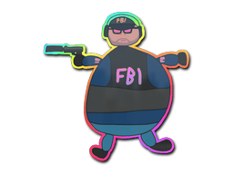 Sticker | Poorly Drawn FBI (Holo)