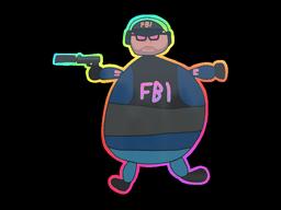 Sticker | Poorly Drawn FBI (Holo)