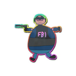 Poorly Drawn FBI (Holo)