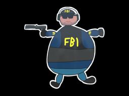 Sticker   Poorly Drawn FBI