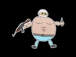 Sticker | Poorly Drawn Terrorist