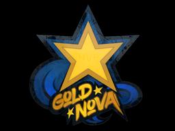 Наклейка | Золотая звезда