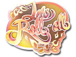 Sticker   Let's Roll-oll (Holo)