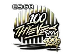 Sticker | 100 Thieves (Gold) | 2020 RMR