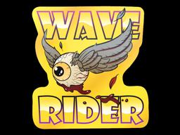 Sticker   Fools Gold Wave Rider