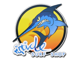Sticker   Ocean Sunset Stabbyfish