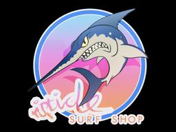 Sticker   Miami Stabbyfish