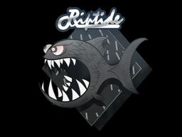 Sticker   Black Jaggyfish