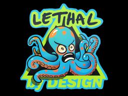 Sticker   Blue Lethal