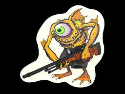 Sticker | Yellow Cyclawps