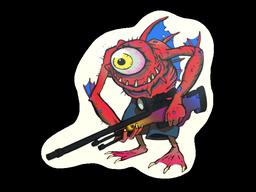 Sticker | Red Cyclawps