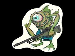 Sticker   Green Cyclawps