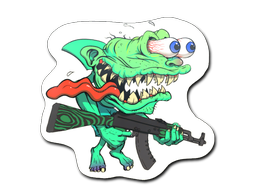 Sticker   Green Shark Shooter
