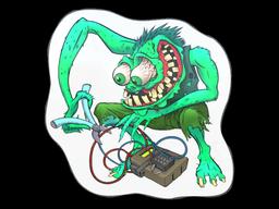 Sticker   Green Bombster