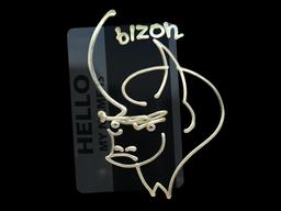 Sticker | Hello PP-Bizon (Gold)