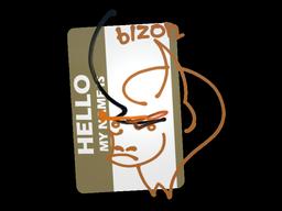 Sticker | Hello PP-Bizon
