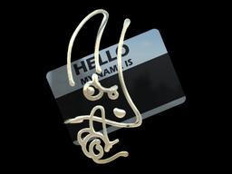 Sticker | Hello M4A1-S (Gold)