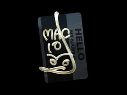 Sticker | Hello MAC-10 (Gold)