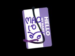 Sticker | Hello MAC-10