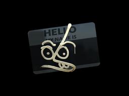 Наклейка | Привет, MP7 (золотая)