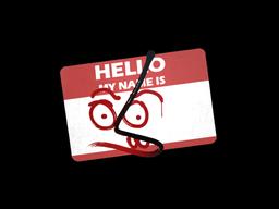 Наклейка | Привет, MP7