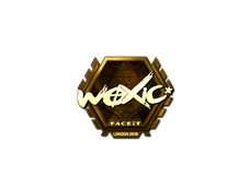 Skin Sticker | woxic (Gold) | London 2018